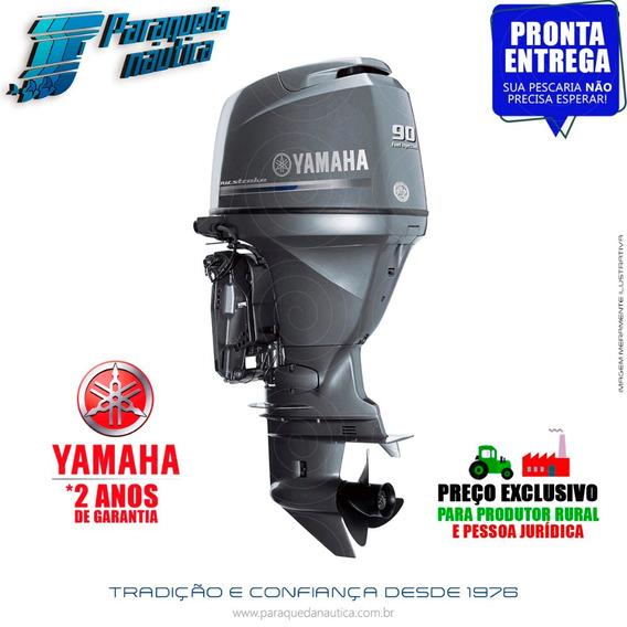 Motor De Popa Yamaha 4 Tempos F 90hp Betl