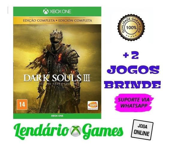 Dark Souls Iii Deluxe Edition X One M. Digital + 2 Brindes