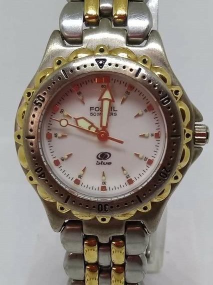 Relógio Fossil T06273 Feminino Blue Webclock