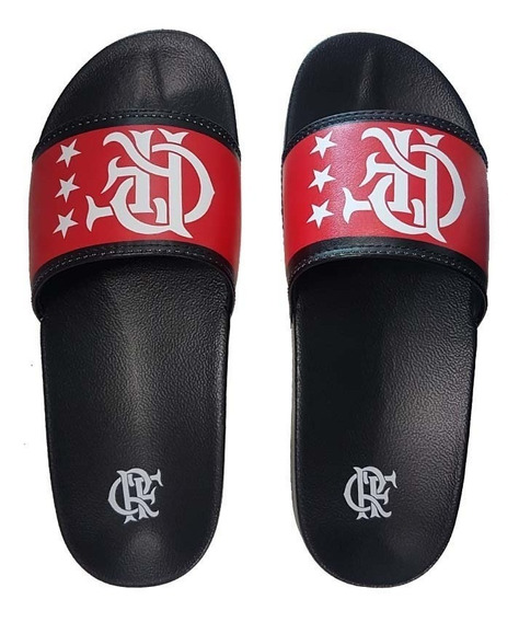 Chinelo Do Flamengo Slide Manto 1 1981 Por Times & Paixões