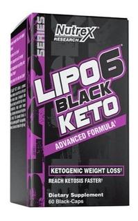 Nutrex Keto Lipo 6 Black 60 Capsulas