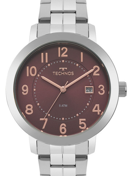 Relógio Technos Feminino Prata Original Barato