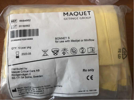 Gorros Para Cpap Neonatal Tamaño S Marca Maquet