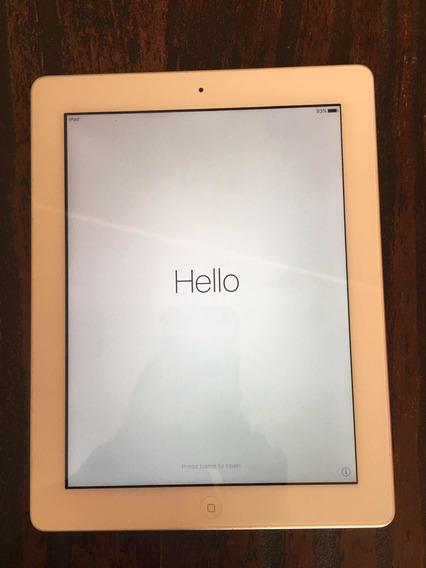 iPad 4 Wi-fi 16gb Branco Prata A1458 Eua