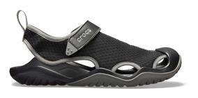 Zapato Crocs Caballero Swiftwater Deck Sandal Negro