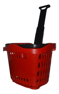 Carrito De Mercado Plastico Ruedas Cesta Viveres Cocina Hoga