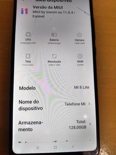 Xiaomi Mi 8 Lite Platina 128 Gigas 6 Ram Aparelho Top