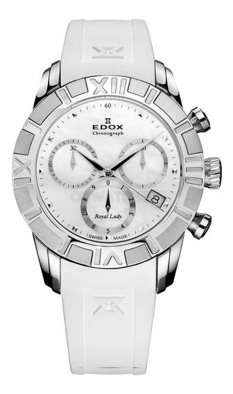 Reloj Edox De Dama, Royal Lady, Blanco 40% De Desc