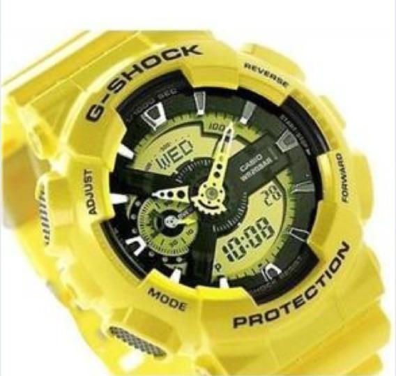 Relógio Homem Importado Choque* Amarelo Ga-110