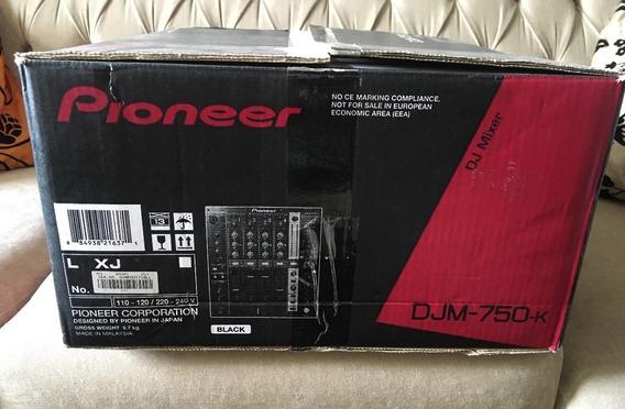 Mixer Pioneer Djm 750k Muito Novo Usado Um Só Vez Na Caixa