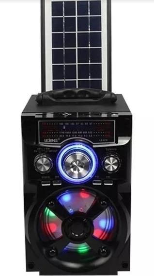 Caixa De Som Bluetooth Recarregável Solar Similar Jbl Sony