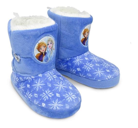 Pantufa Bota Infantil Elsa E Anna - Frozen - Original Disney