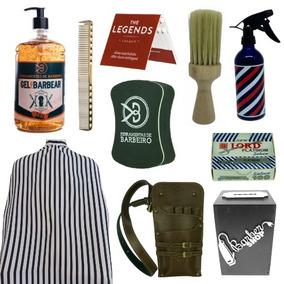 Kit Barbeiro Profissional Cosméticos E Ferramentas Barbearia