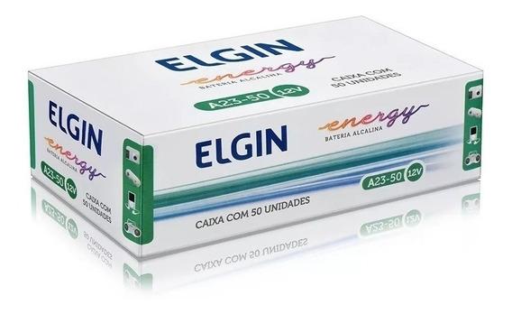 50 Pilhas A23 Elgin Alcalina 12v Controle Portão Alarme