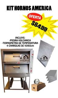 Horno Para Pan Con Piedra Y 4 Charolas Kit