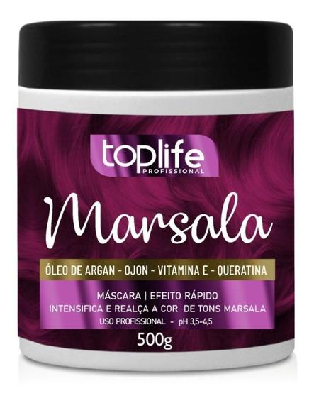 Tonalizante Máscara Power Color Marsala 500g Original