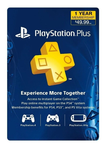 Código Playstation Psn Plus 12 Meses - 1 Año - Store Usa
