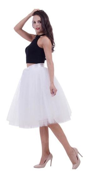 Falda Tutu Tul 6 Capas Fondo Elegante Dama Mujer Liston
