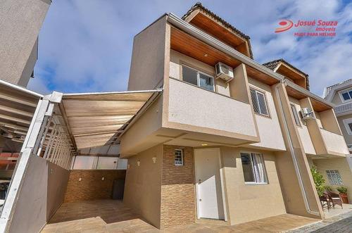 Sobrado Com 3 Dormitórios À Venda, 140 M² Por R$ 480.000,00 - Cajuru - Curitiba/pr - So1103