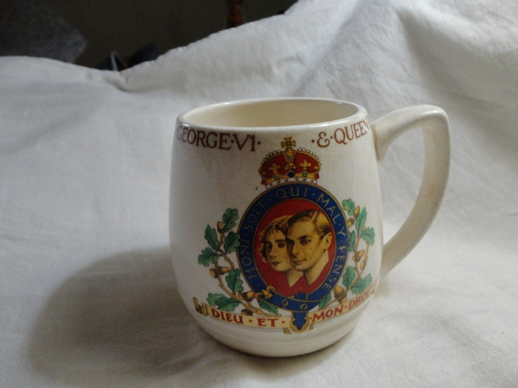 Jarra Inglesa Coronación Rey Jorge Vi Año 1937 Original