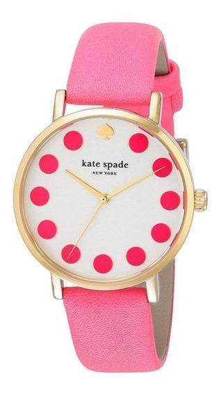 Reloj Kate Spade Acero Piel Rosa Mujer 1yru0770
