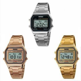 Relógio Digital Led Skmei 1123 Luxo Retro Lindo Prova D