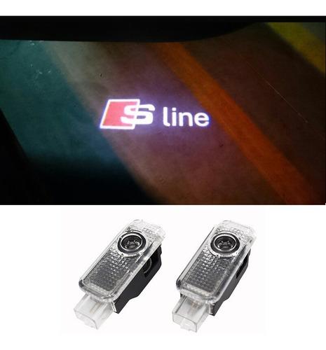Imagem 1 de 3 de Led Cortesia Porta Audi S Line Laser Projetor