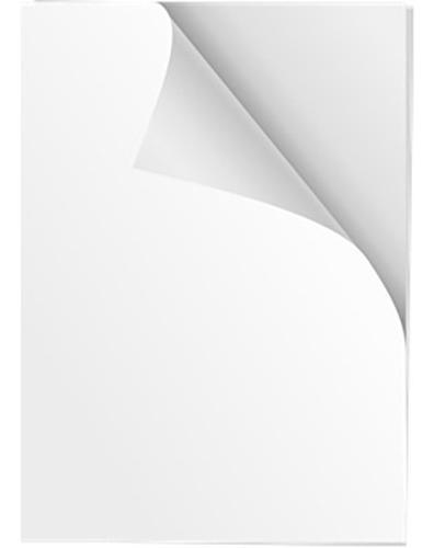 Adesivo Vinil Branco Fosco P/ Laser A4 - Prova D Água 100 Un