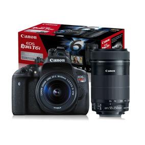 Câmera T6i Kit Premium 18-55 Stm+ 55-250stm Canon 16gb Bolsa