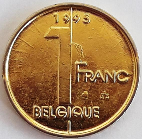 Moneda Bañada En Oro Bélgica Año 1995 Con Cápsula Inversión