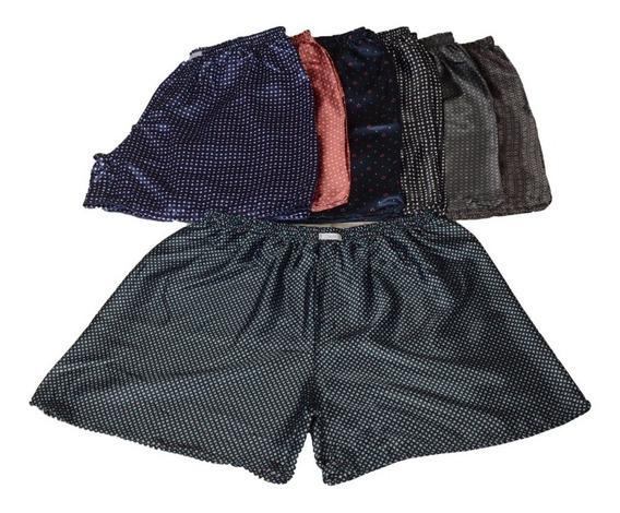 10 Shorts Cueca Samba Canção Cetim Promoção Plus Size