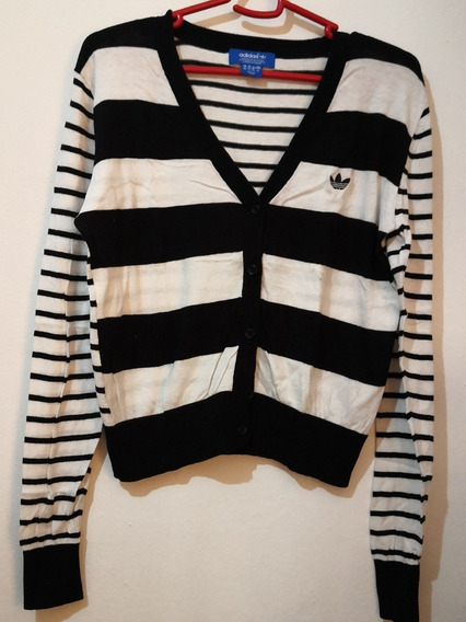 Sweters Saquito adidas Con Botones Talle M, Hilo 100%algodon