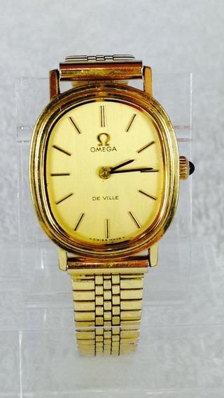 Reloj Original Omega De Ville Chapa De Oro (ref 1649)