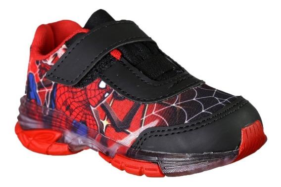 Tênis Infantil Homem Aranha Spider Man Com Vcr Led Luz