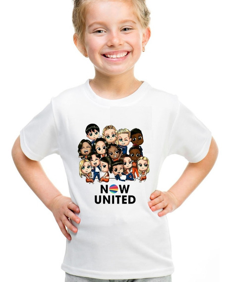 Camiseta Infantil Now United Kid Fun Cute Personalizado Nome