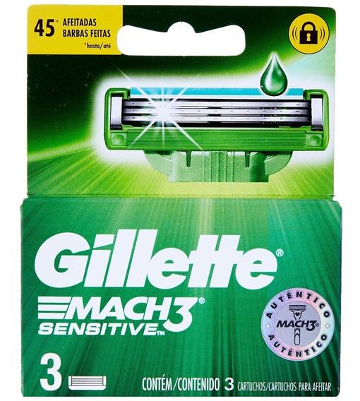 Carga Gillette Mach 3 (com 3 Cartuchos Cada) Leve 3 Pague 2