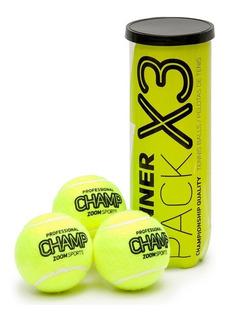 Pelotas De Tenis Zoom Sports Championship X3 Lata