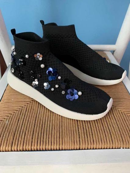 Zapatillas Zara 38 Con Lentejuelas