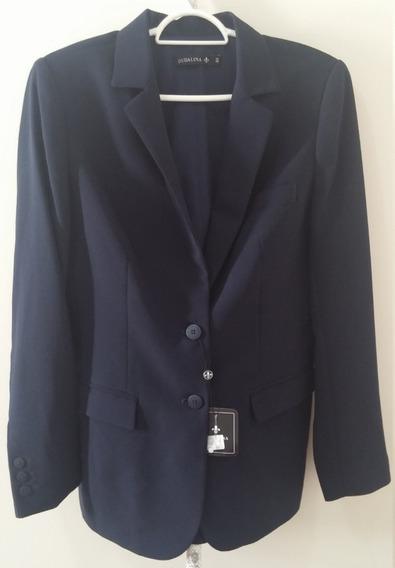 Blazer Dudalina Feminino Original - 40 - Azul Escuro
