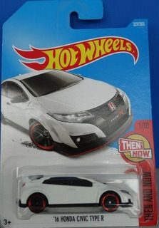 Miniatura Hot Wheels 16 Honda Civic Type R - Then And Now !