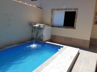 Casa Geminada Com Piscina , 300 M. Do Mar. Ref. 0719 M H