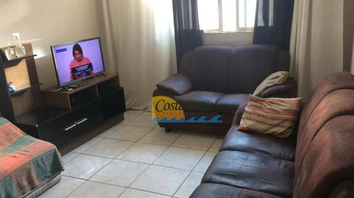 Apartamento Com 3 Dormitórios À Venda, 82 M² Por R$ 260.000 - Vila Guilhermina - Praia Grande/sp - Ap15684