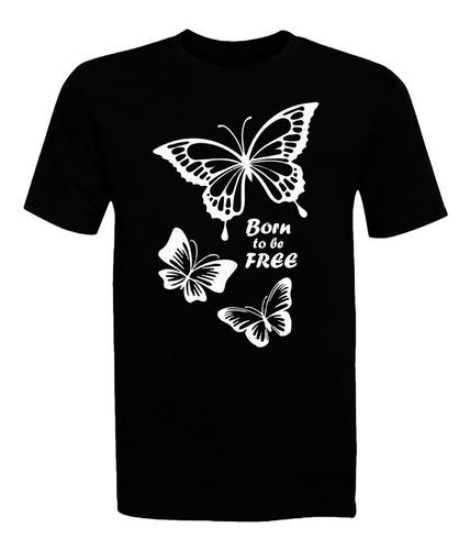 Polera Mariposas - Polo - Niña - Glitter - Frases - Regalo