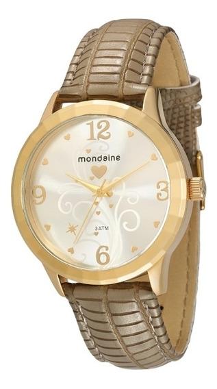 Relógio Mondaine Feminino Couro Coração 76351lpmgdh1