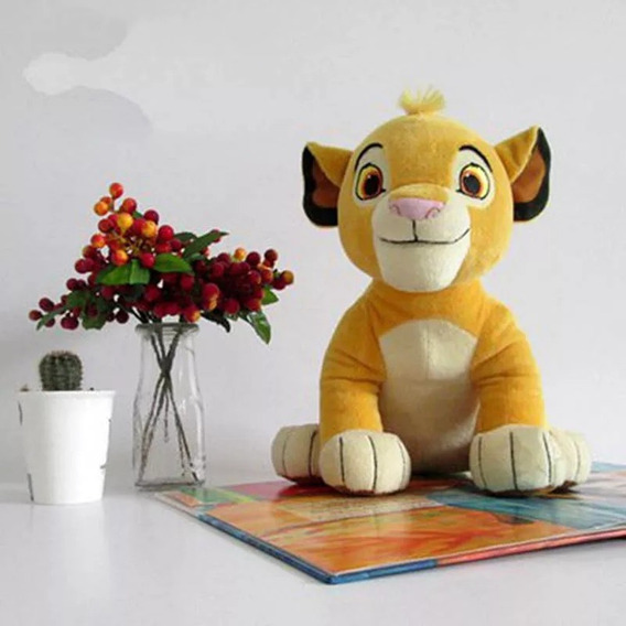 Pelúcia Simba 26 Cm Rei Leão Disney Novo E *importado*