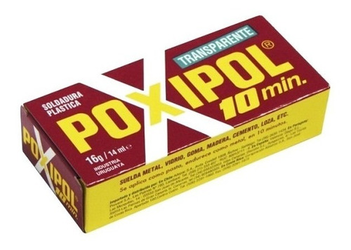 Pegamento Poxipol 10 Min Transparente 14ml