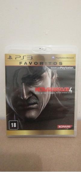 Jogo Metal Gear Solid 4 Guns Of The Patriots Favoritos Ps3