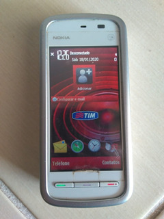 Celular Nokia 5230 Branco/vermelho 70mb E Acessórios