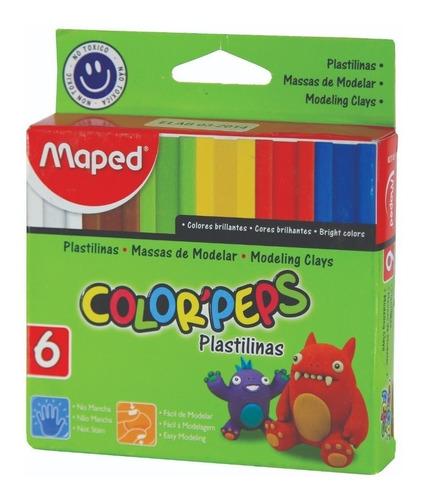 Imagen 1 de 3 de Plastilina Maped Color Peps X 6 Barritas Colores Surtidos