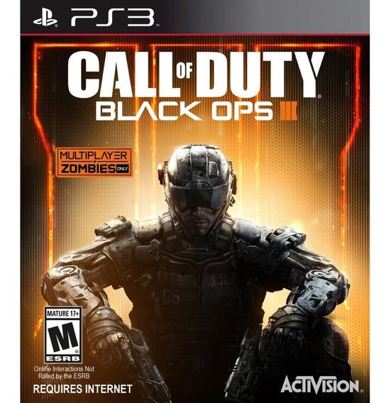 Call Of Duty Black Ops Iii Ps3 Mídia Física Novo Lacrado